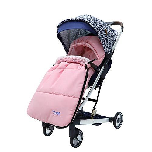 Saco de dormir para cochecito de bebé grueso y cálido, resistente al viento, acolchado grueso de algodón, para bebés de 0 a 12 meses, 93 x 43 cm