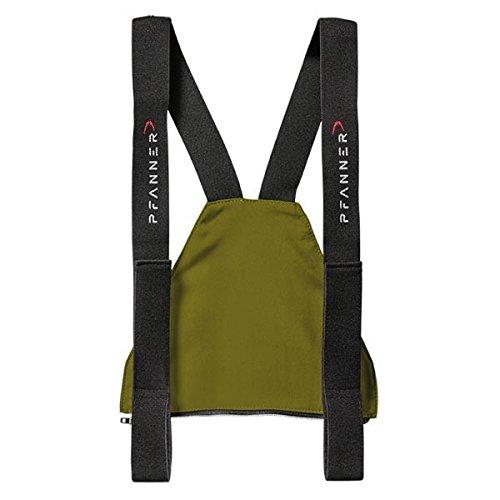 Pfanner Zip-Latz für Schnittschutzhosen mit Nierenschutz, Farbe:Olive, Größe:2