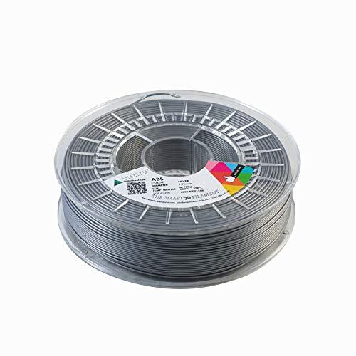 Smartfil ABS, 1.75mm, Silver, 750g Filamento para Impresión 3D de Smart Materials 3D