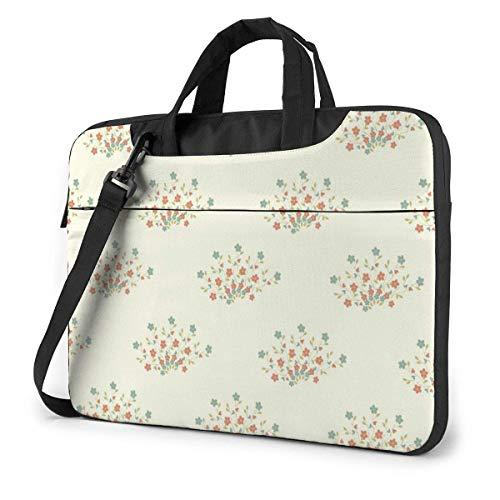 Laptop Shoulder Bag 14 Inch, Flower Pattern Briefcase Protective Bag