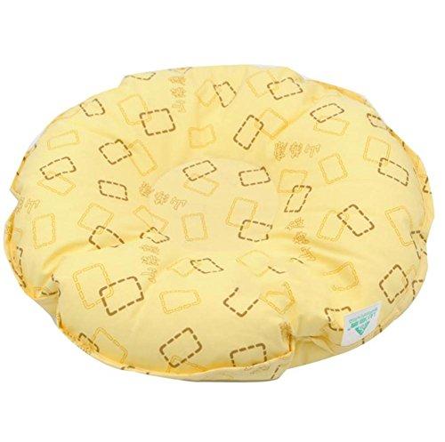 meylee Anti-Dekubitus Kopf Druck Geschwür Auflagen, Füller der Breathable hohen elastischen Partikel, für Bett Sorgfalt rundes Kissen, Yellow