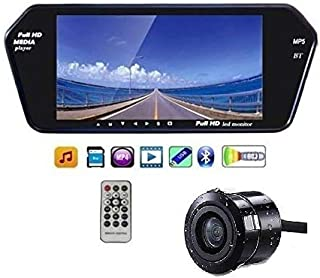H & S DESIGNER STUDIO Full HD Touch LED Screen Bluetooth/USB/TF/MP5/DVR with Night Vision Waterproof Car Reverse Camera for All Cars, 7 Inch, Black -Combo Pack of 2 Pieces