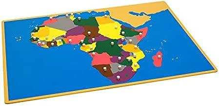 LEADER JOY Montessori Materials Puzzle Map of Africa