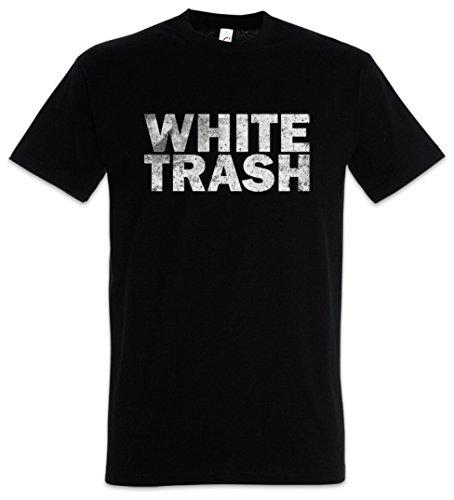 Urban Backwoods White Trash Herren T-Shirt Schwarz Größe L