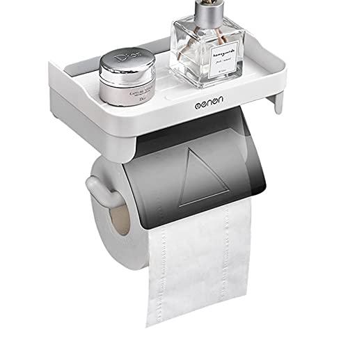 Portarrollos de Papel con partición, Portarrollos de Papel montado en la Pared, Portarrollos de Papel Resistente al Agua y al Polvo