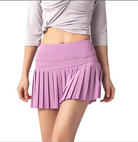 Falda de golf para mujer, falda de tenis con bolsillos, falda de bolsillo para bola, falda de tenis, falda de golf (morado, pequeño)