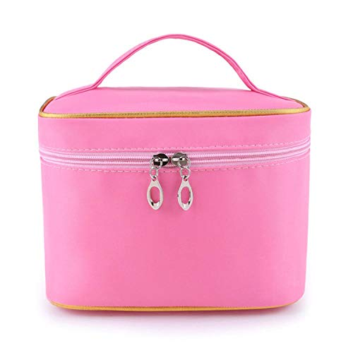 WEMUR Trousse de Toilette Maquillage Cosméticos de Las Mujeres Bolsa de Almacenamiento de la Bolsa de Viaje de Color Rojo (Color : Pink)