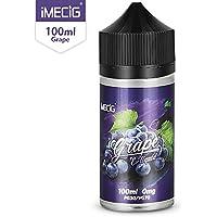IMECIG Liquid E para cigarrillos electrónicos, líquido de uva Vape100ml, humo fresco y grande, sin nicotina
