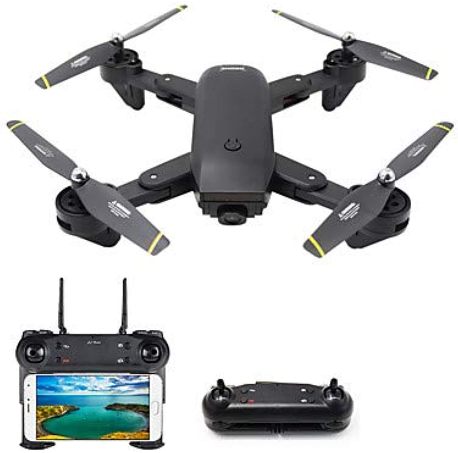 Shengshiyujia RC Drone 4CH 6 Axis 2.4G Mit HD Camera 2.0MP 1080P720P RC Quadcopter LED-Leuchten One Key to Auto-Return Auto-Takeoff RC Quadcopter Remote Controller Transmmitter USB-Kabel