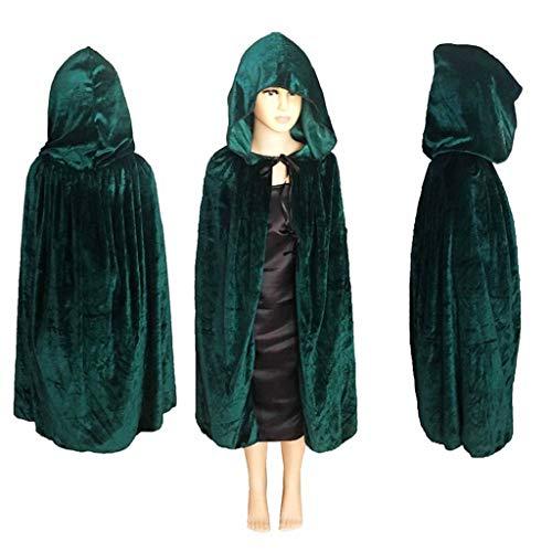 Kinderen Halloween Mantels Cos Dood Lange Capes Heks Heks Prins Prinses Robe Props Fluwelen Mantel met Hood Cape Kerst Party Cosplay Kostuums