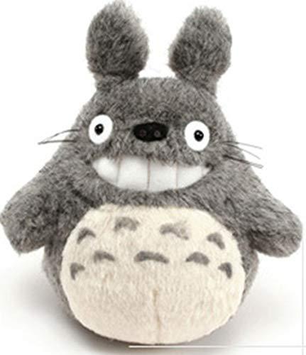 Mein Nachbar Totoro Ghibli Stofftier Plüschtier Kuscheltier Plüsch Figur: Grinsender O Totoro (Miminzuku) Grau 17 cm