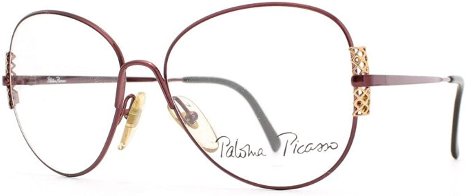 Paloma Picasso 3710 80 Red Authentic Women Vintage Eyeglasses Frame