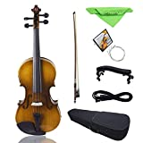 ZHAOHAONB Violín 7 PCS/Set 4/4 Full Size Acoustic Violin Fiddle Kit Antique Face Color Instrumento de 4 cuerdas con estuche Accesorios de Vilolin, Otros
