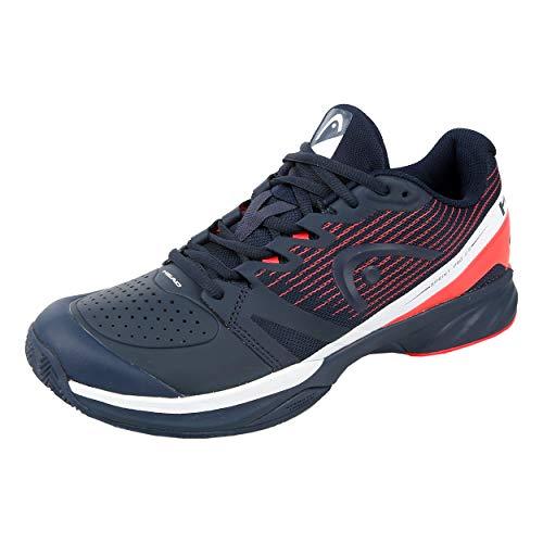 HEAD Zapatillas de Tenis para Hombre Sprint Pro 2.5 Clay Men para Hombre, Azul Oscuro/Rojo neón, 45 EU