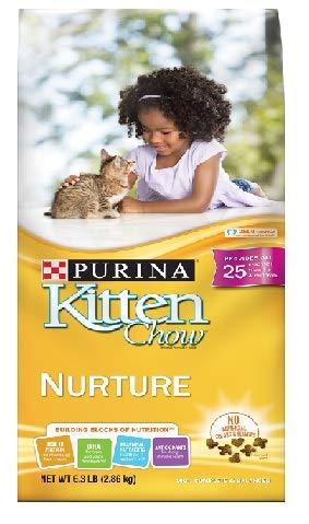 Kitten Chow Purina Nurture Cat Food 6.3 lb. Bag, 100% Complete & Balanced