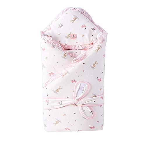 YumEIGE pucktoeken baby pucktoeken roze, herfst en winter, katoen, pucktdoeken met verstelbare klittenband en zachte triangelhoed, babydeken 39,3 × 39,3 inch