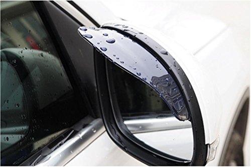 2 Stück Rückspiegel Regenschutz Sonnenschutz Seitenspiegel Sonnenblende für Auto Schwarz PVC Auto hintere Ansicht Spiegelregen Augenbraue Wetterstreifen Selbstspiegel Regen Schild Visier Regenfest