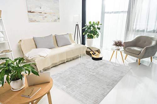 One Couture Wollteppich Teppich Wolle Meliert Hochwertig Modern Wohnzimmer Creme Grau...