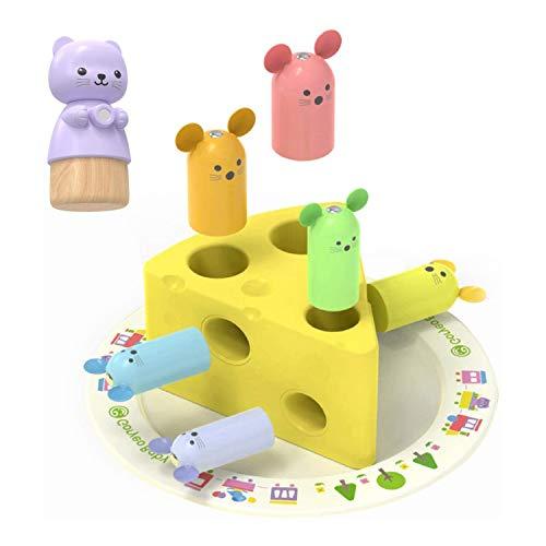 ZCX Rescate queso captura animales forma color reconocimiento práctico entrenamiento temprano educación niños rompecabezas de niños bloques de construcción juguete Juguetes para Bebés y Niños Pequeños