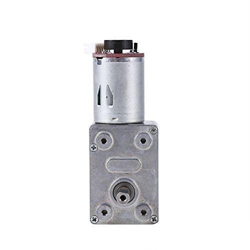 Motor de caja de engranajes de alto par DC 12V Motor de reducción de motor de tornillo sin fin de alto par con codificador Srong autoblocante para electrodomésticos(20RPM)