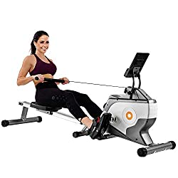 【8-stage adjustable voltage resistance】The resistance of this rowing machine can be easily adjusted manually with a resistance selection button. It features a 4kg flywheel with 8 different levels of tension for effective full body and endurance worko...