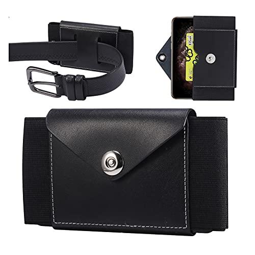 Custodia con clip da cintura progettata per iPhone 11 Pro Max/XS Max/8 Plus/7 Plus/6 Plus, custodia con clip da cintura, custodia per cintura di carte di credito (M-Nero)