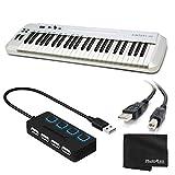 Samson Carbon 49 MIDI Controller Keyboard 49-Key + 4-Port USB 2.0 Hub with Individual LED Lit Power...