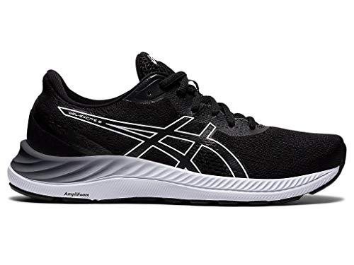 ASICS Women's Gel-Excite 8 Running Shoes, 9.5, Black/White