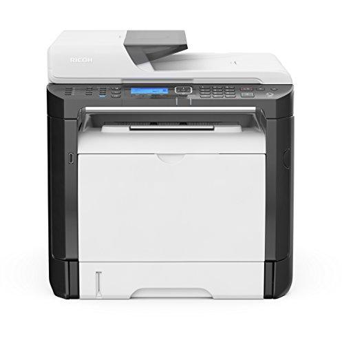 Ricoh SP 377SFNWX - Impresora multifunción láser (Capacidad 6.400 Impresiones, Blanco y Negro, A4/US Carta) Color Blanco