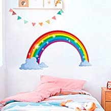 Holly LifePro Rainbow Wall Decal Poster Lettering Wall Stickers Murals for Boys Bedroom Playroom Art Design Stickers Wall for Home Playroom,Style-1