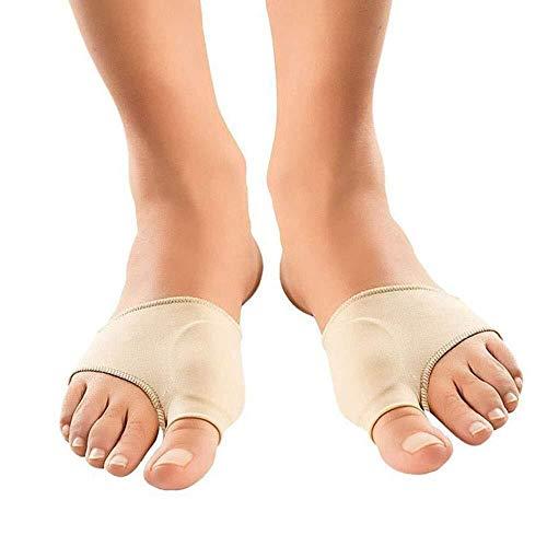 Fuß Orthese Orthese Zehenkorrektur Weiche Zehenschutzsocken mit Gelpolster (1PAIR) zur Schmerzlinderung und Vermeidung von Verletzungen Hallax Valgus Correction Sleeve - Big Toe Protector Cushion & nd