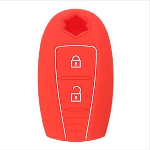 YONGYAO 2 Bouton De Silicone Couvercle De Boîtier Clé Shell pour Suzuki Swift Kizashi Sx4 S-Cross-Rouge