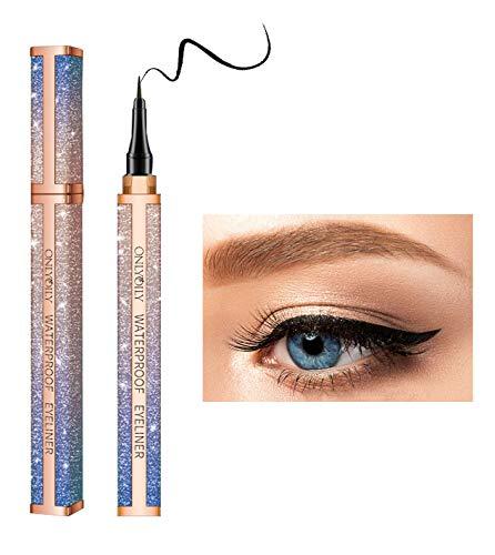 Onlyoily Eyeliner Pencil Stylo Liquide Eyeliner Precision Séchage Rapide, Noir métallique Flash Eyeliner