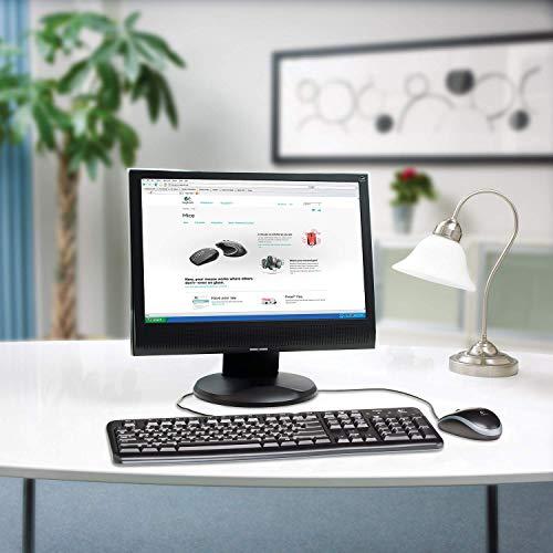 Logitech MK120 Combo Clavier et Souris Filaires pour Windows, Souris Optique Filaire, Connexion USB Plug And Play, Confortable, Taille Standard, PC/Portable, Clavier QWERTY Espagnol - Noir