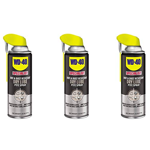 WD-40 300059 Dirt and Dust Resistant Dry Lubricant Spray w/Smart Straw (3 Pack)