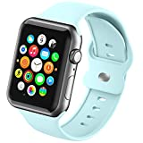 Sport Smartwatch Band Compatible with Apple Watch Bands 38mm 40mm for Women Girls Men,Soft Silicone Replacement Wristband for iWatch Series 6 5 4 3 2 1 SE Strap