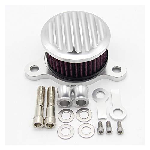 CNC Air Filtro DE Aire Motorycle Filter Sistema Sistema DE Sistema DE CRAFEADOR DE Aire para XL883 XL1200 1991 1992 1993-2016 2015 (Color : Silver)