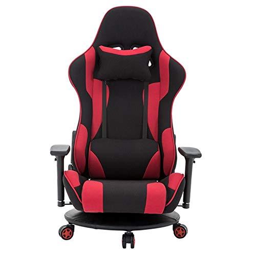 Silla de Oficina Gaming Asiento Silla Partido en casa Cápsula Espacial Oficina Silla reclinable Racing Tatami (Color : Red, Size