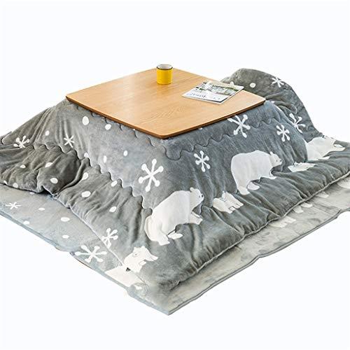 Mesa Calefactora Eléctrica Hogar Kotatsu Mesa Calefactora Japonesa Artefacto De Calefacción De Estilo Japonés De Invierno (Color : Gray, Size : 70 * 70 * 38cm)