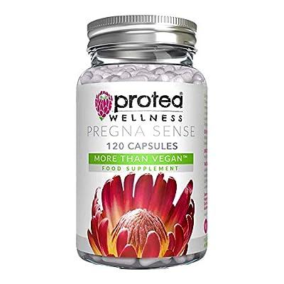 Vegan Prenatal Vitamins and Pregnancy Vitamins - Folic Acid Pregnancy Pills - Essential Nutrients, Vitamin B Complex, Vitamin D, Vitamin E, Iron - Vegan Vegetarian Kosher - UK - 120 Capsules 60 Days