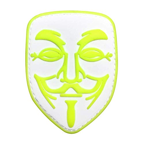 Morton Home 3D PVC V for Vendetta Anonymous Calico Jack Tactical Hacker Morale SWAT Hook Patch (Green)