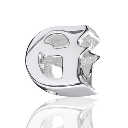 MATERIA 925 zilveren kraal letter - G - Beads letters G element voor namen aan kralen kettingen/armbanden European Silver kralen letters & cijfers #1386