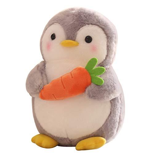 Y6osemiteCute Stuffed Animal Toys Penguin Hugging Fruit Plush Stuffed Plush Figure Soft Chubby Plush Doll Kids Toy Home Decor Valentine Gift - Carrot