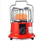 BKWJ Calentador de Gas Multifuncional, Calentador de Infrarrojos, Estufa de Cocina portátil para Exteriores, Calentador de propano de sobremesa para Camping/Patio/jardín,Rojo,Natural Gas