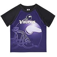 NFL Minnesota Vikings Boys Short Sleeve T-Shirt, Multi-Color, 2T
