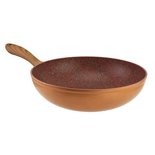 JML Copper Stone Pans: 28cm Wok, Super-Non-Stick for The Ultimate stir-Fry