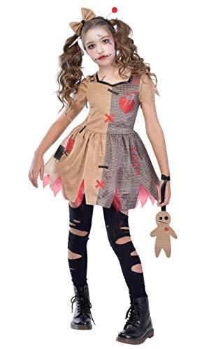 Fancy Me Ragazze Teenager Terrorizzante Spaventosa Evil Voodoo Bambola Halloween Carnevale Costume Vestito 6-12 Anni - 10-12 Years