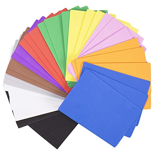 Horizon Group USA 30 Rainbow Colorful Foam Sheets 5X 8.5, Multipack Assorted Vibrant Colors, Great for DIY Craft Projects, Multicolor