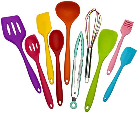 Kitchen Silicone Utensil Set Cooking Tools 10Pcs Food Grade Safety Mini Cookware 480 Heat Resistant product image