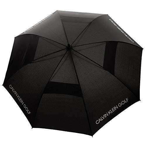 Calvin Klein Solid Colour Vented Umbrella - Black - One Size